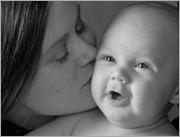 Baby Portrait BW