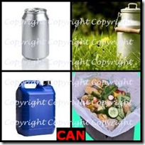 CAN- 4 Pics 1 Word Answers 3 Letters