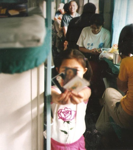 kid on train to yinchuan