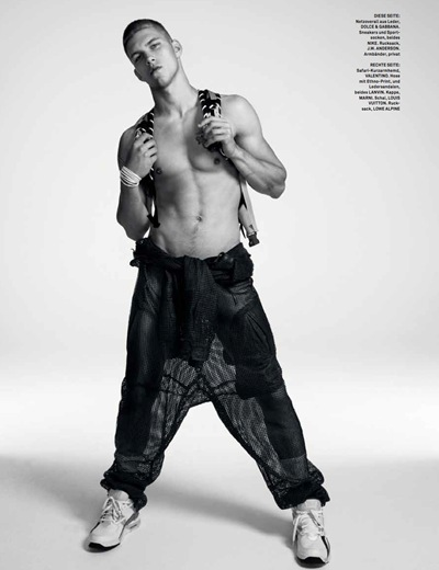 Dmitriy Tanner @ Soul by Matthias Vriens-McGrath for GQ Style Germany S/S 2012. Styled by Tobias Frericks.