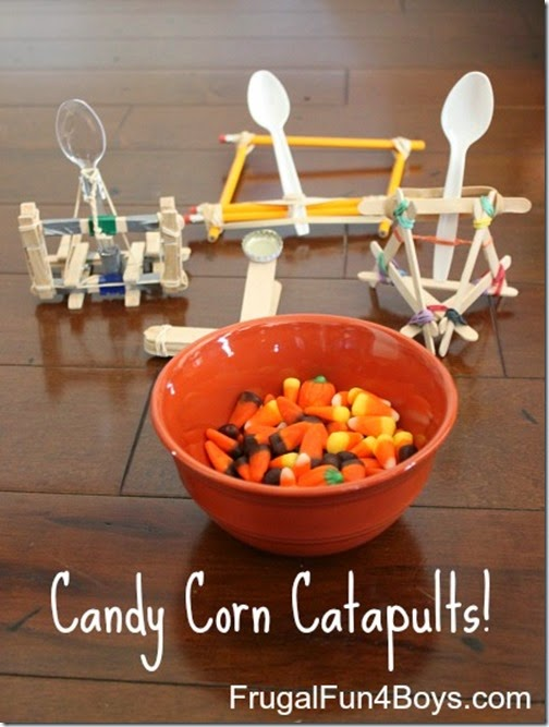 Candy Corn Catapults #fall #kidsactivities #science #math #homeschool