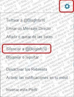Ver usuarios silenciados en Twitter - silenciar usuarios en Twitter