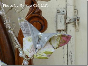 Tutorial ghirlanda farfalle di stoffa 9