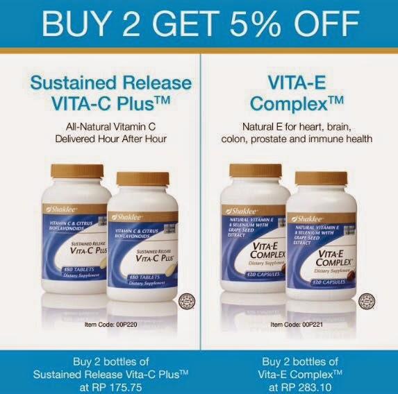 harga promosi berganda vitamin e shaklee