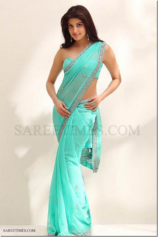 Praneetha_Blue_Saree
