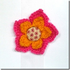 CrochetPointFlowerPinkyellow