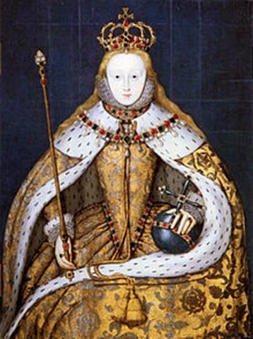 Isabel I en su coronación, 1559.