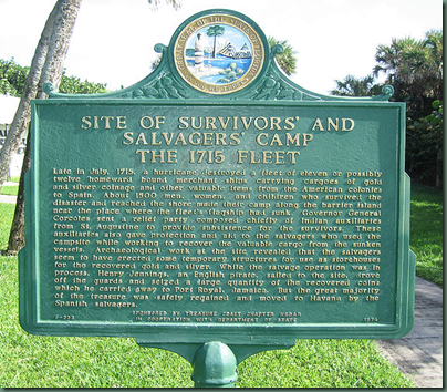 File Survivors  and Salvagers  Camp   1715 Fleet Historical Marker.jpg   Wikipedia  the free encyclopedia