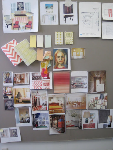 It is always so fun to see how many things start on an inspiration board that end up in the finished product.
