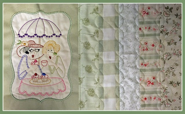 Stitchery made in 6D Design Creator. The piecing and quilting is digitized directly in the embroidery machine and made in the hoop.