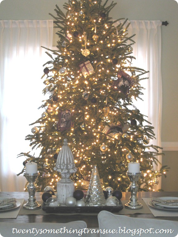 Purple Christmas Tree Decorations and Tablescape and Photo Ornament 006 (2)