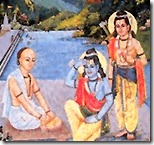 Tulsidas with Rama and Lakshmana
