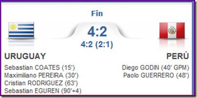 Uruguay 4-2 Perú