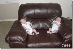 three month old twins