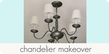 chandelier makeover
