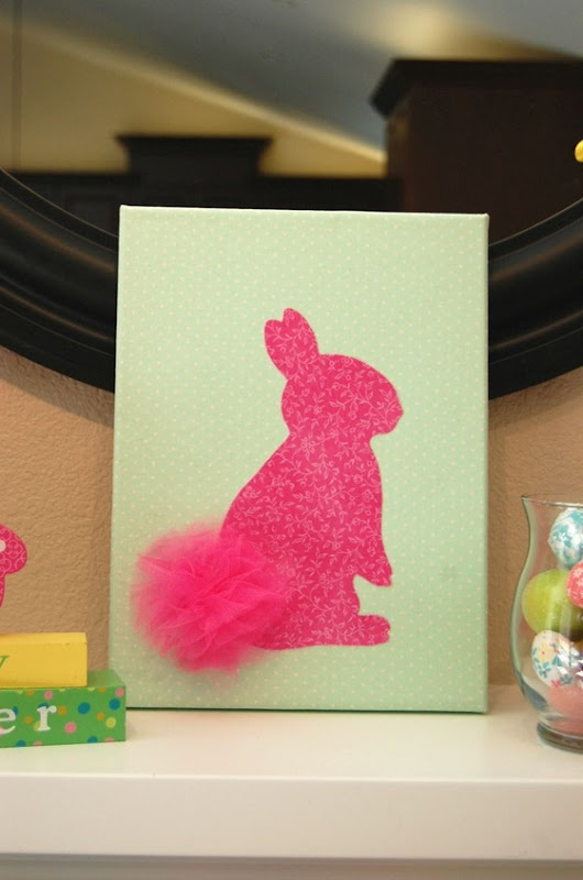 fabric bunny canvas