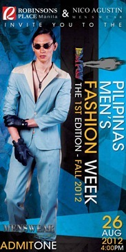 pilipinas men's fashion week aug 26, 2012