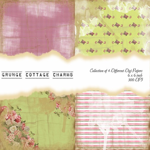 Grunge Cottage Charms Front Sheet