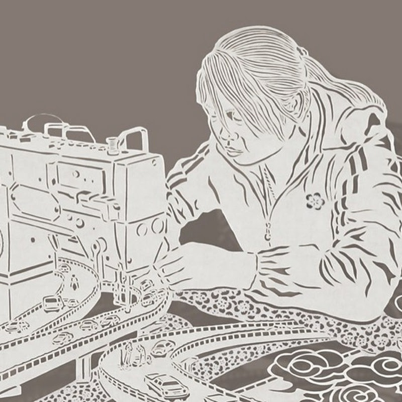Intricate Paper Cut Drawings by Bovey Lee