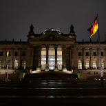 Reichstag by night in Berlin, Berlin, Germany