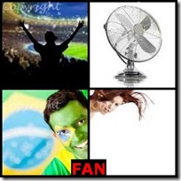 FAN- 4 Pics 1 Word Answers 3 Letters