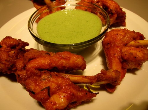 Chicken Lollipops - moreish Keralan spiced chicken wings