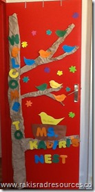 Welcome to School door designs at the International School of Morocco