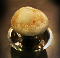 Frothy cup of coffee