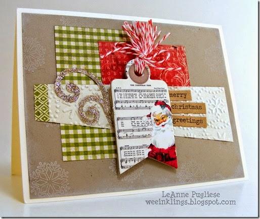 LeAnne Pugliese WeeInklings Vintage Santa Chipboard Christmas