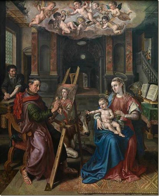 Maerten de Vos, St Luc peignant la vierge