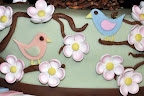 Gumpaste flowers and birds