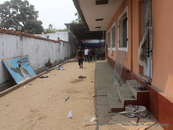 Au siège de l'UDPS Saccagé le 6/9/2011 à Kinshasa.