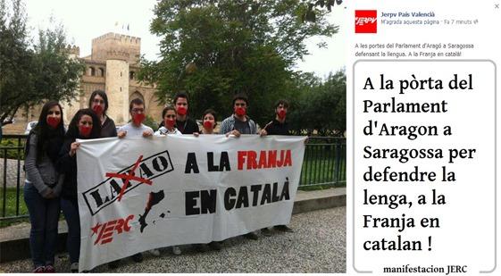 manifestacion JERC a Saragossa