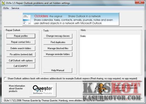 OLfix Memperbaiki Microsoft Outlook