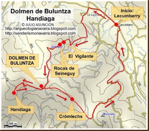 Mapa dolmen Buluntza