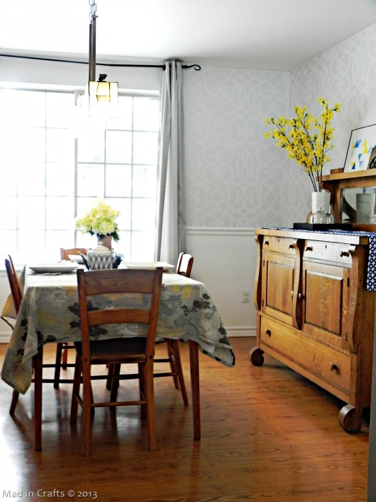stenciled dining room