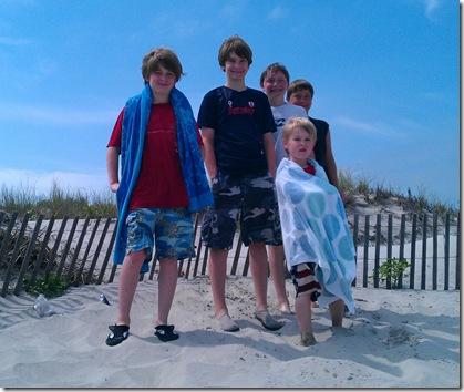 Five boys