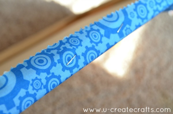 DIY Fabric Canvas with Applique 11
