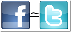 Facebook and twitter similar