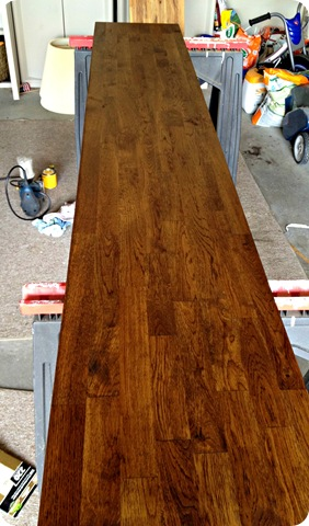 how to stain butcher block