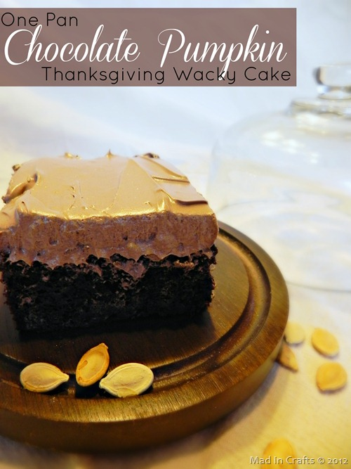 One Pan Chocolate Pumpkin Thanksgiving Wacky Cake