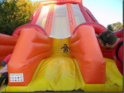 coming down slide