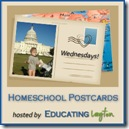 Homeschool Postcards Button Main