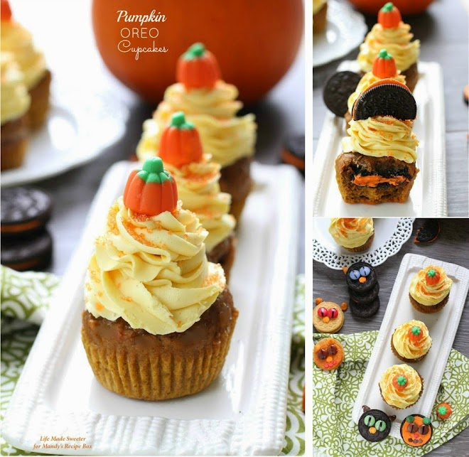 Pumpkin Cupcakes with Maple Cinnamon Frosting by @LifeMadeSweeter.jpg