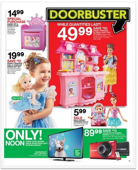 Target Black Friday 2012 ad - Doorbuster deal on Disney Princess Ultimate Fairytale Kitchen