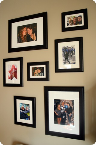 gallery wall dark frames