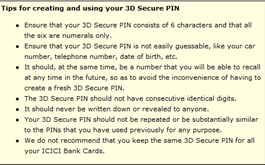 3d secure pin creation instructions