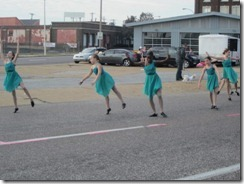 dancers during race