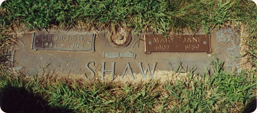 Shaw, George H  Mary J.Grave marker