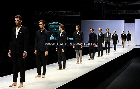 MENS FASHION WEEK SINGAPORE 2012 Spencer Hart Nick Tailored suits shirt pants luxe Saville Row British Bespoke  David Beckham